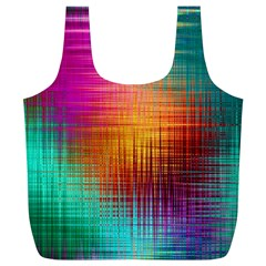 Colourful Weave Background Full Print Recycle Bags (L)