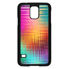 Colourful Weave Background Samsung Galaxy S5 Case (Black)