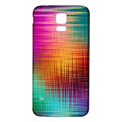Colourful Weave Background Samsung Galaxy S5 Back Case (White)