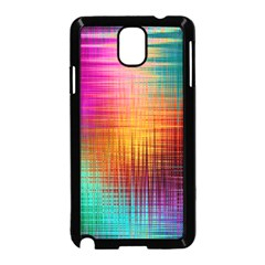 Colourful Weave Background Samsung Galaxy Note 3 Neo Hardshell Case (black)