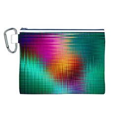 Colourful Weave Background Canvas Cosmetic Bag (L)