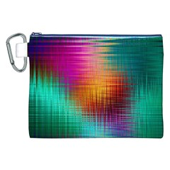 Colourful Weave Background Canvas Cosmetic Bag (XXL)