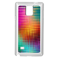 Colourful Weave Background Samsung Galaxy Note 4 Case (White)