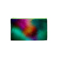Colourful Weave Background Cosmetic Bag (xs)