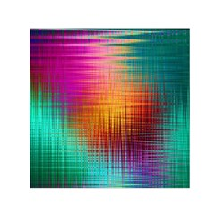 Colourful Weave Background Small Satin Scarf (Square)