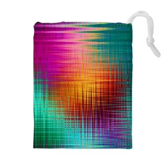 Colourful Weave Background Drawstring Pouches (Extra Large)