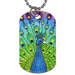 Peacock Bird Animation Dog Tag (one Side)
