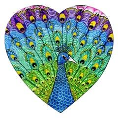 Peacock Bird Animation Jigsaw Puzzle (Heart)