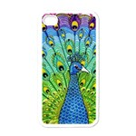 Peacock Bird Animation Apple iPhone 4 Case (White) Front