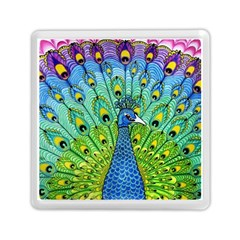 Peacock Bird Animation Memory Card Reader (square)