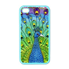 Peacock Bird Animation Apple iPhone 4 Case (Color)
