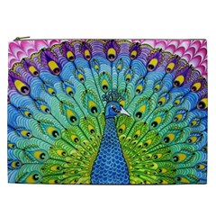Peacock Bird Animation Cosmetic Bag (XXL)