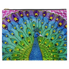 Peacock Bird Animation Cosmetic Bag (XXXL)