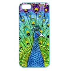 Peacock Bird Animation Apple Seamless iPhone 5 Case (Color)