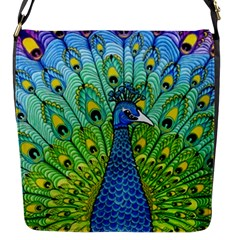 Peacock Bird Animation Flap Messenger Bag (S)