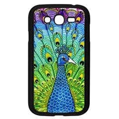 Peacock Bird Animation Samsung Galaxy Grand DUOS I9082 Case (Black)