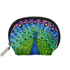 Peacock Bird Animation Accessory Pouches (Small)