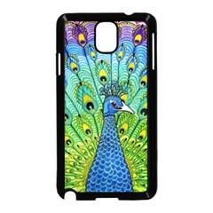 Peacock Bird Animation Samsung Galaxy Note 3 Neo Hardshell Case (Black)