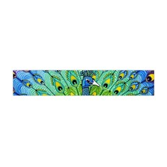 Peacock Bird Animation Flano Scarf (mini)