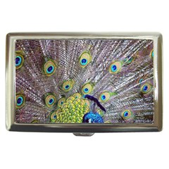 Peacock Bird Feathers Cigarette Money Cases