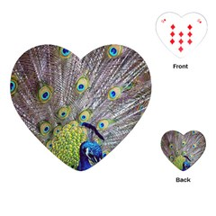 Peacock Bird Feathers Playing Cards (heart)