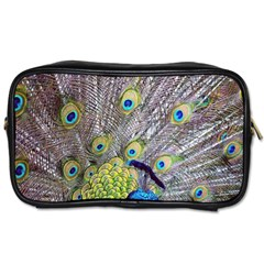 Peacock Bird Feathers Toiletries Bags 2-Side