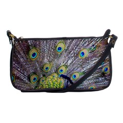 Peacock Bird Feathers Shoulder Clutch Bags