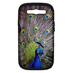 Peacock Bird Feathers Samsung Galaxy S III Hardshell Case (PC+Silicone)