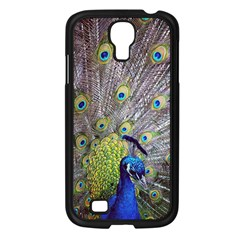 Peacock Bird Feathers Samsung Galaxy S4 I9500/ I9505 Case (Black)