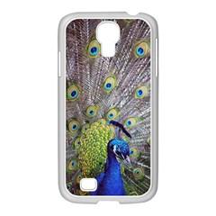 Peacock Bird Feathers Samsung GALAXY S4 I9500/ I9505 Case (White)