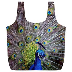 Peacock Bird Feathers Full Print Recycle Bags (l)