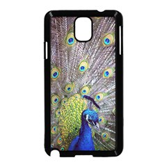 Peacock Bird Feathers Samsung Galaxy Note 3 Neo Hardshell Case (black)