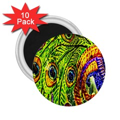 Peacock Feathers 2.25  Magnets (10 pack)