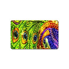 Peacock Feathers Magnet (Name Card)