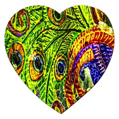 Peacock Feathers Jigsaw Puzzle (heart)