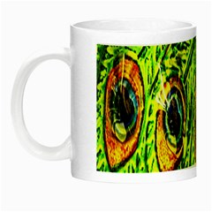 Peacock Feathers Night Luminous Mugs