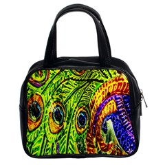 Peacock Feathers Classic Handbags (2 Sides)