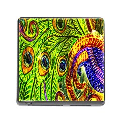 Peacock Feathers Memory Card Reader (Square)