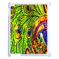 Peacock Feathers Apple iPad 2 Case (White)