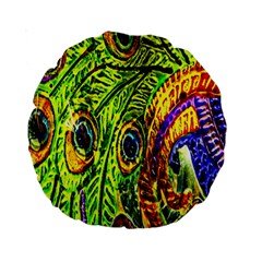 Peacock Feathers Standard 15  Premium Round Cushions