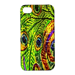 Peacock Feathers Apple Iphone 4/4s Hardshell Case With Stand