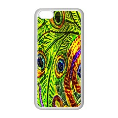 Peacock Feathers Apple iPhone 5C Seamless Case (White)