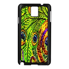 Peacock Feathers Samsung Galaxy Note 3 N9005 Case (Black)