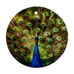 Peacock Bird Round Ornament (Two Sides)