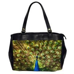 Peacock Bird Office Handbags (2 Sides)
