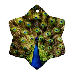 Peacock Bird Snowflake Ornament (Two Sides)