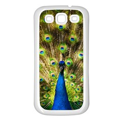 Peacock Bird Samsung Galaxy S3 Back Case (White)