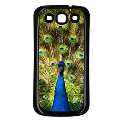 Peacock Bird Samsung Galaxy S3 Back Case (Black)