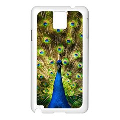 Peacock Bird Samsung Galaxy Note 3 N9005 Case (White)