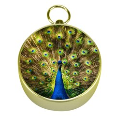 Peacock Bird Gold Compasses